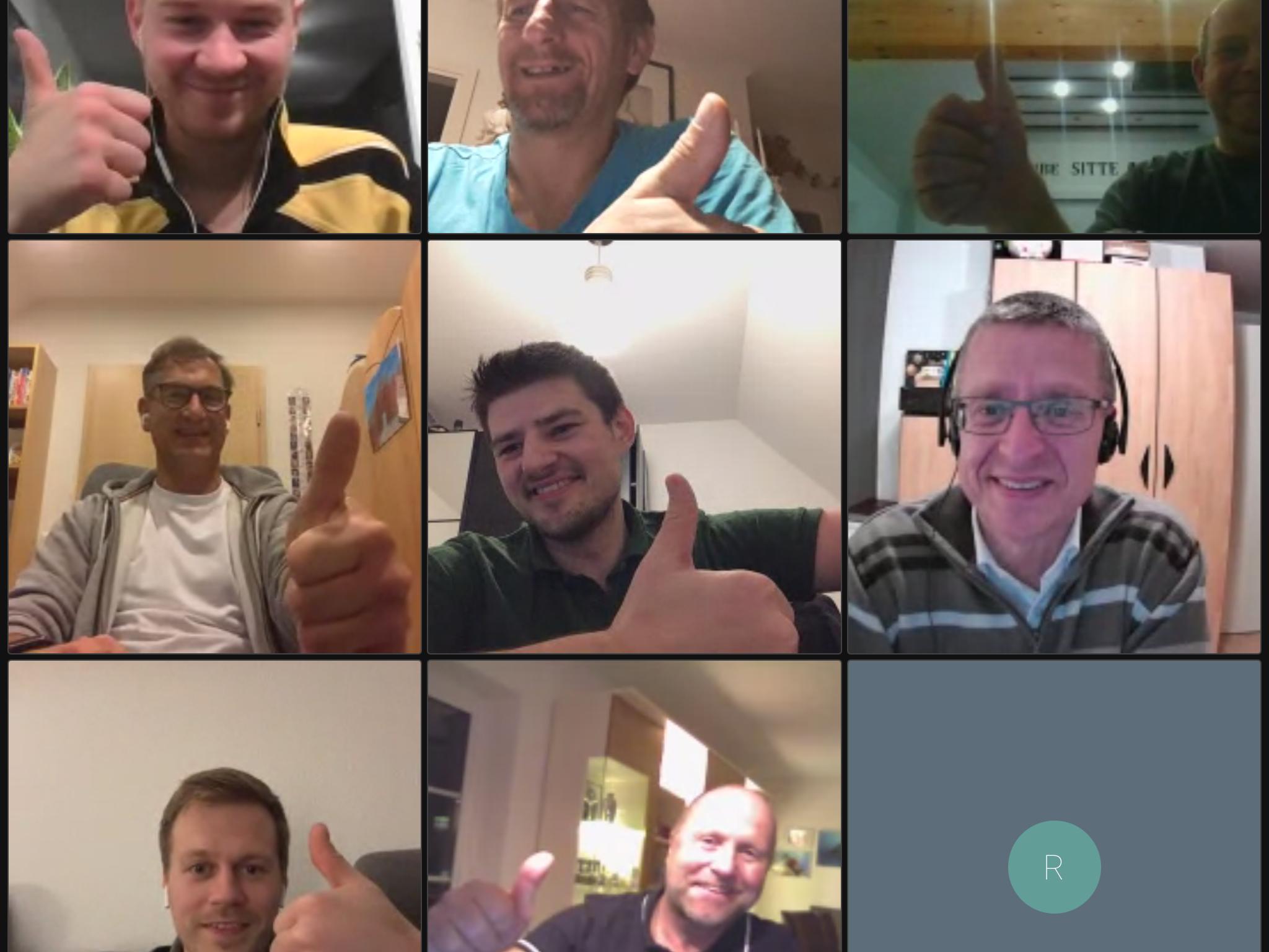 Ein Screenshot der virtuellen Vorstandsitzung
